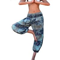 Pant Beach Print Bleu Coton Pink Planet pour femme