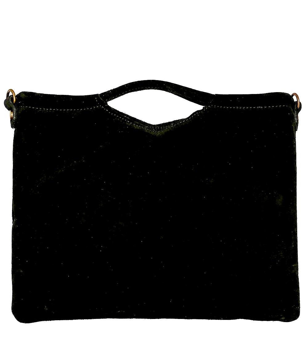 CherryParis Sac portéMain bandoulière cuir Femme(noir)
