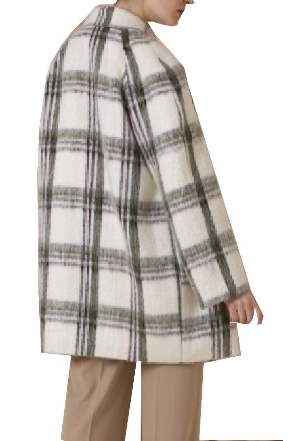 Manteau en mohair imprimé carreaux // oN pARLE DE vOUS