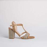 Sandale nu-pieds Talons haut Reqins femme (naturel)