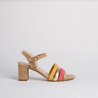 Sandale nu-pieds Talons  Reqins femme (naturel/Or)