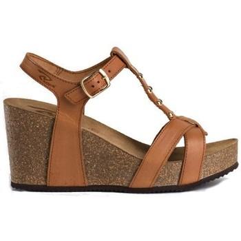 Sandale talon 8 cm de REQINS pour la femme (martron)