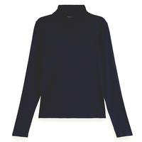 Scotch & Soda T.shirt Col roulé femme 163760 Uni Noir NewHiver
