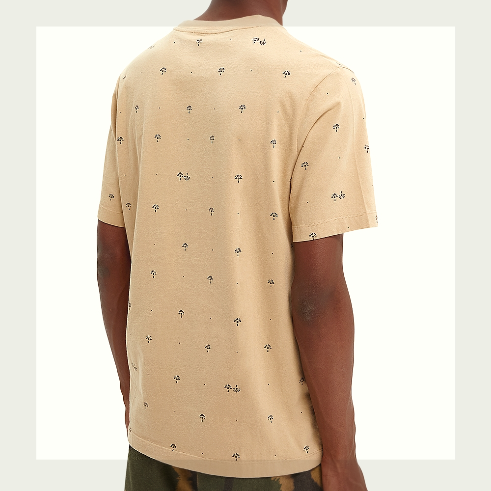 Scotch & Soda  T.Shirt Col rond Homme 163962 Beige NewHiver