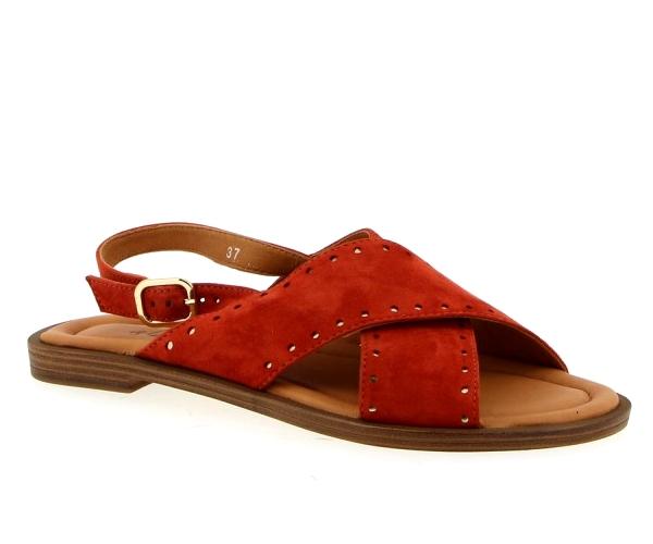 Sandale Nu-pieds cuir/Vachette TerraCotta Femme   Aliwell