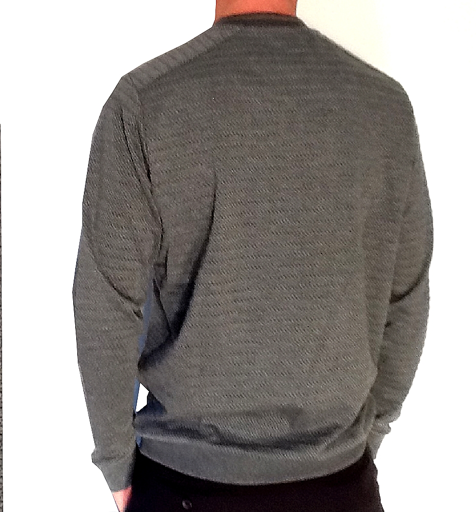 Pull homme ML col Rond Benson & Cherry  Anthracite Col/Hiver