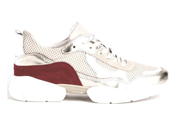Sneakers basse Cuir  femme Platine printemps/été 2020