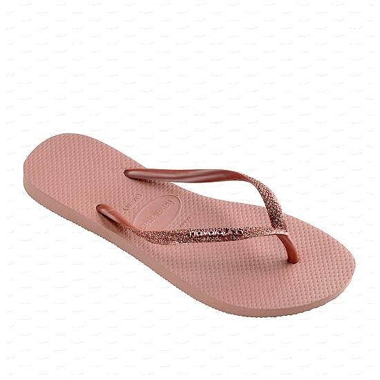 HAVAIANAS Tong Femme Slim Glitter2 Crocus /Rose