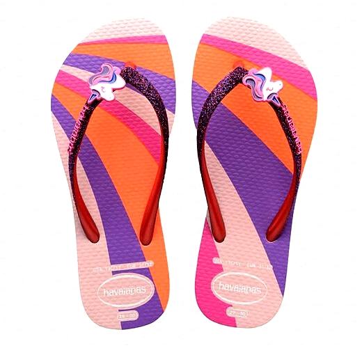 HAVAIANAS Tong Slim GlitterII junior girl  Pink T 27 à 33/34