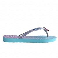 HAVAIANAS Tong Slim GlitterII junior girl  blue T 27 à 33/34