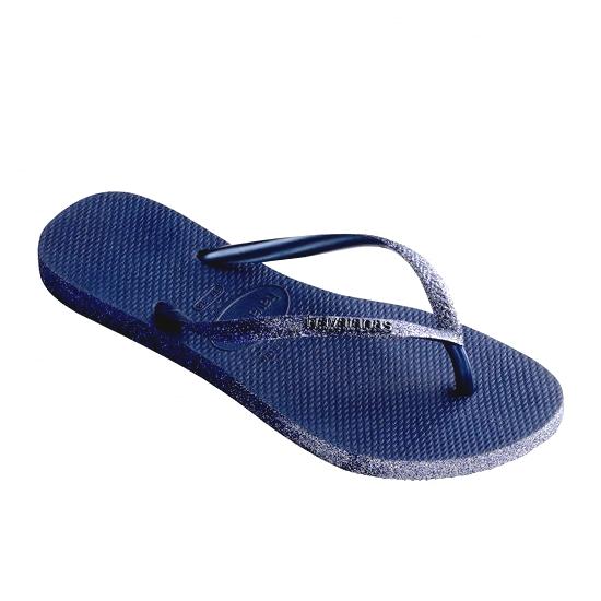 HAVAIANAS Tong Slim Sparkle Femme Navy / Blue