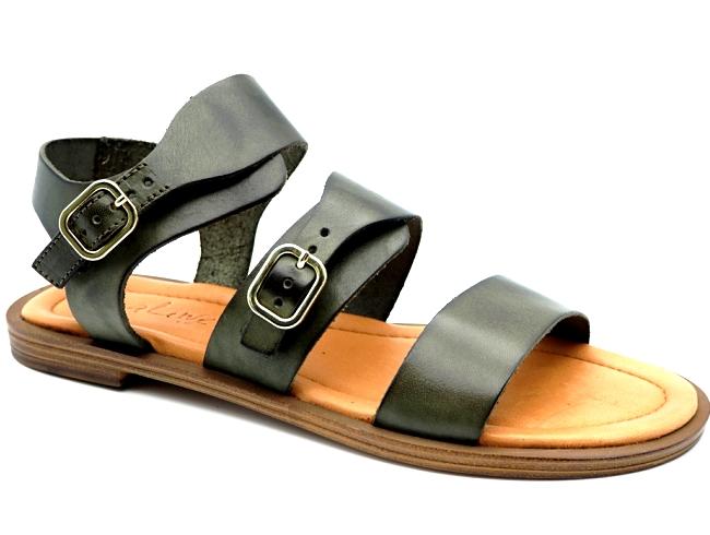 Sandale Nu-pieds cuir Vachette  Femme confort et look Aliwell