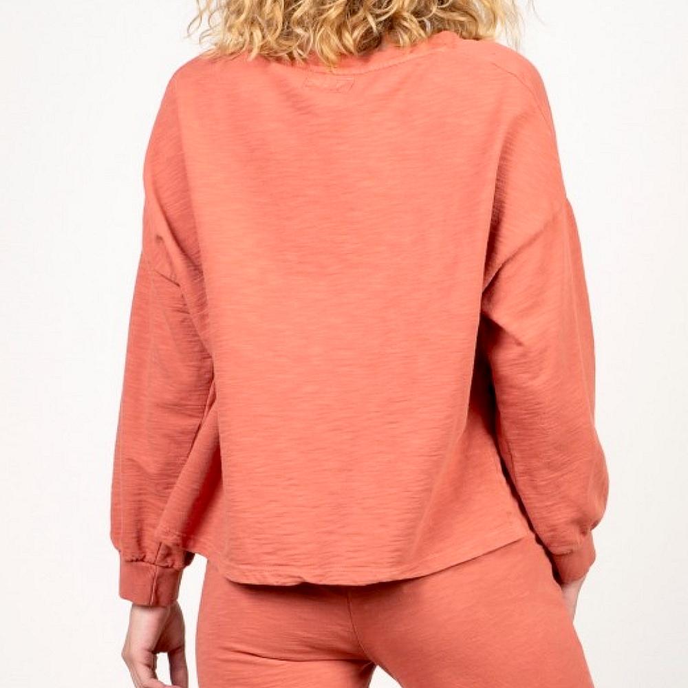 PakoLitto Sweat ml col V femme Rose poivre New/collection