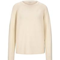 Pull coton pour femme Tom Tailor beige printemps/été 2020