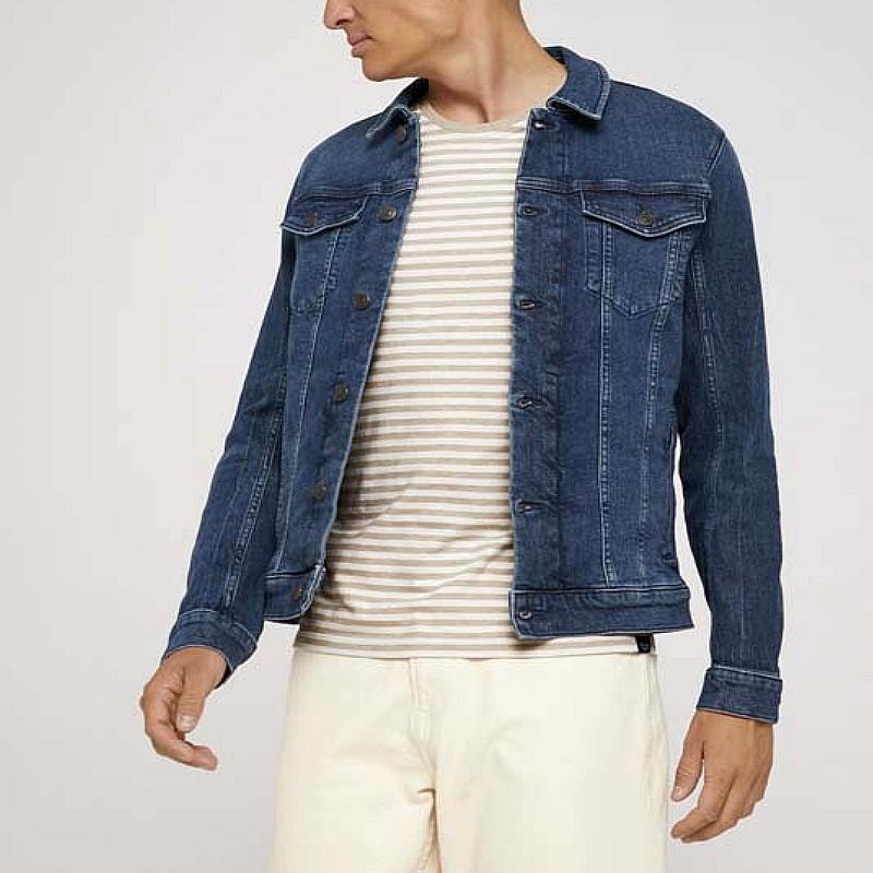 Blouson jean manche longue denim homme collection hiver