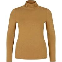 TomTailor  T.Shirt col cheminée femme Camel  nouvelle/collection