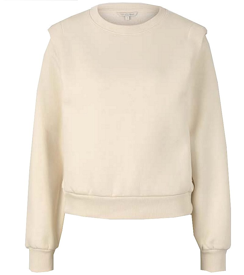 TomTailor  Sweat col rond femme Beige  1027273 nouvelle/collection