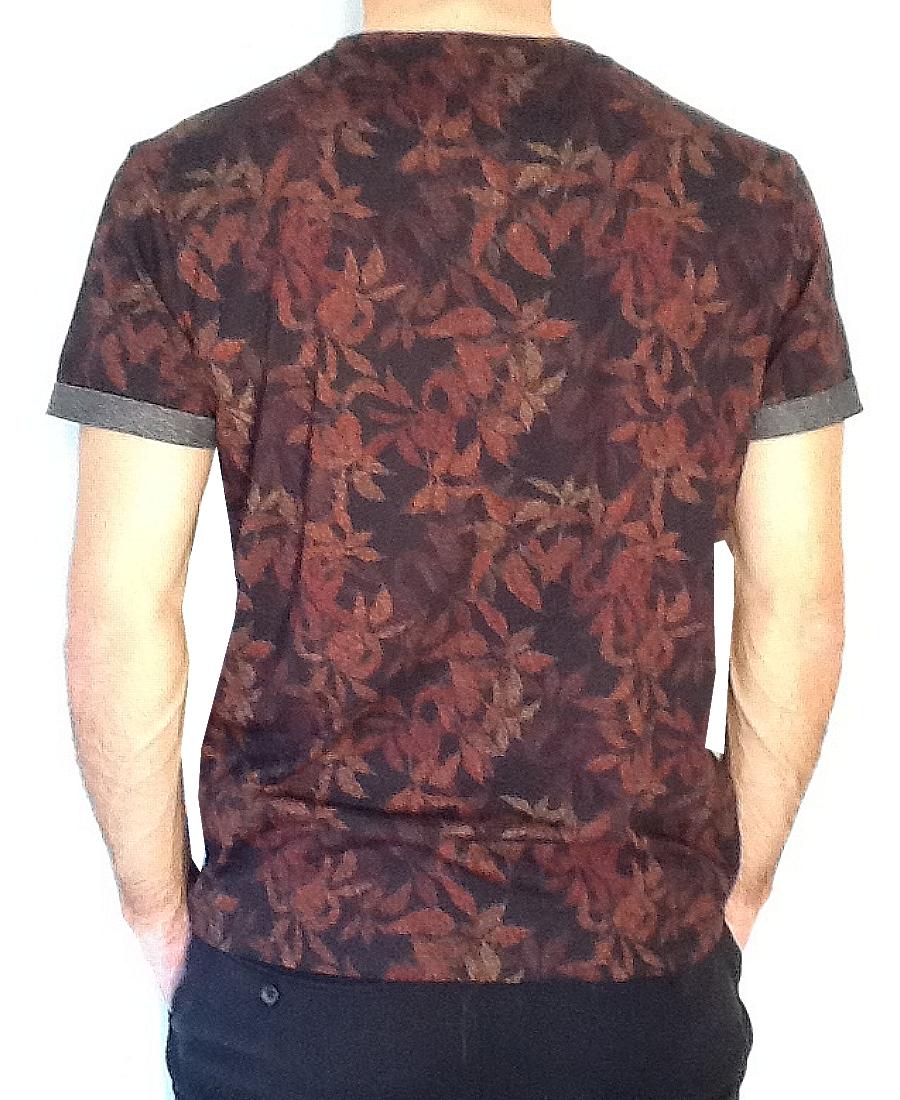 Tee.Shirt mc homme  col Rond Benson & Cherry  PrintNoir Col/Hiver