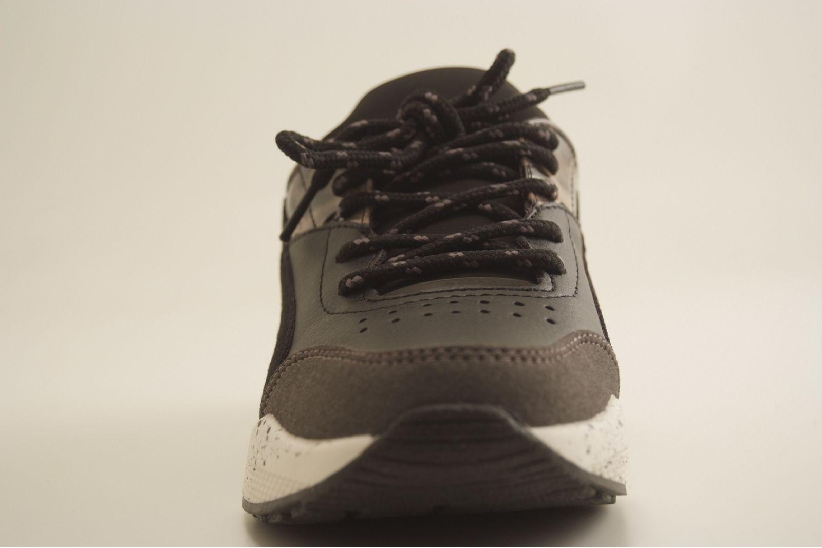 Basket REQINS femme tendance noir/beige    PROMO